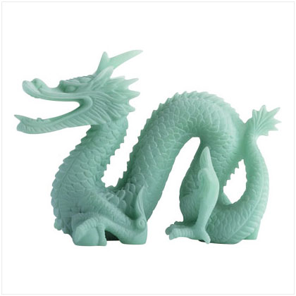 Glow-In-The-Dark Chinese Dragon Statue