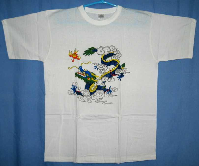 Chinese Dragon T-Shirt, Dragon in Clouds