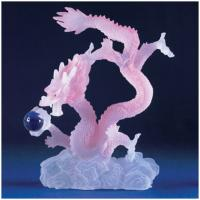 Tinted Frosted Chinese Dragon Statue