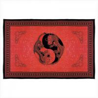 Chinese Yin-Yang Dragon Print Cotton Sheet