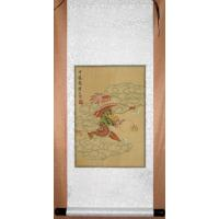 Chinese Red Dragon Scroll Art Painting