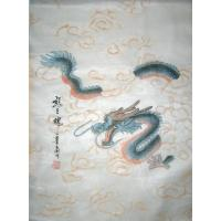 Chinese Silk Soul of Dragon Painting